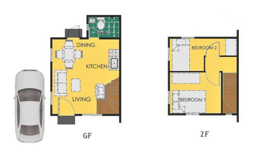 Reva Floor Plan House and Lot in San Ildefonso