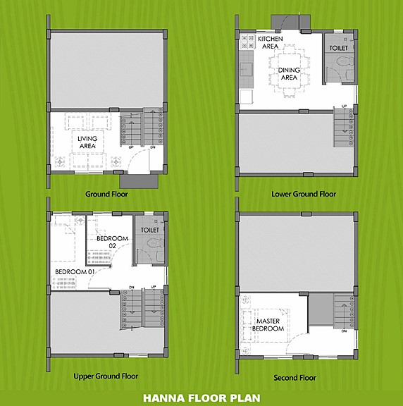 Hanna Floor Plan House and Lot in San Ildefonso