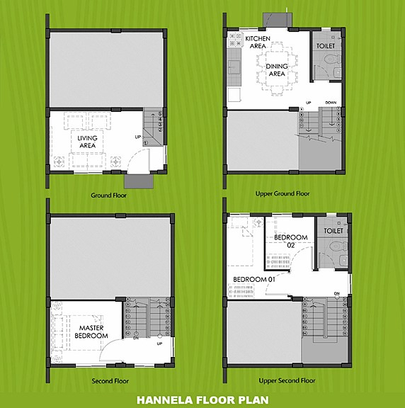 Hannela Floor Plan House and Lot in San Ildefonso