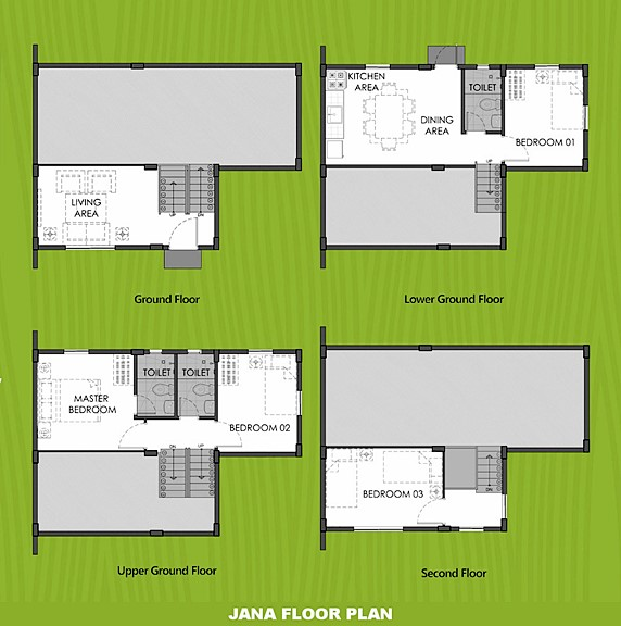Janna Floor Plan House and Lot in San Ildefonso