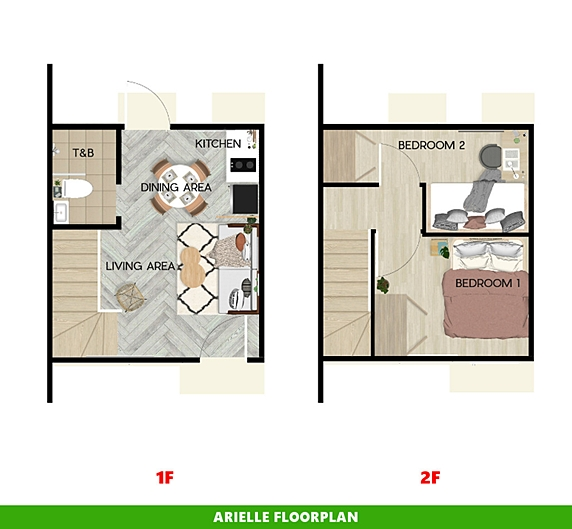 Arielle Floor Plan House and Lot in San Ildefonso