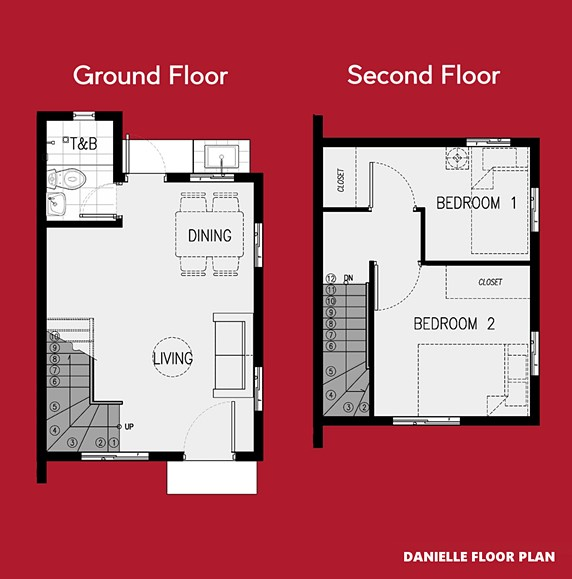 Danielle Floor Plan House and Lot in San Ildefonso