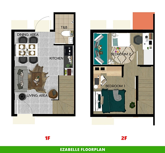 Ezabelle Floor Plan House and Lot in San Ildefonso