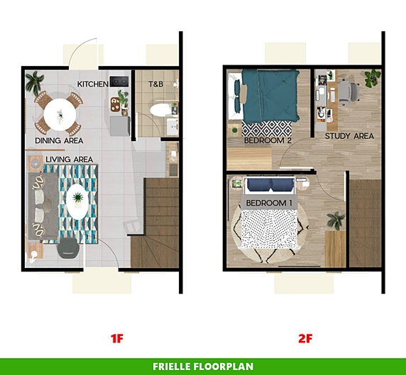 Frielle Floor Plan House and Lot in San Ildefonso
